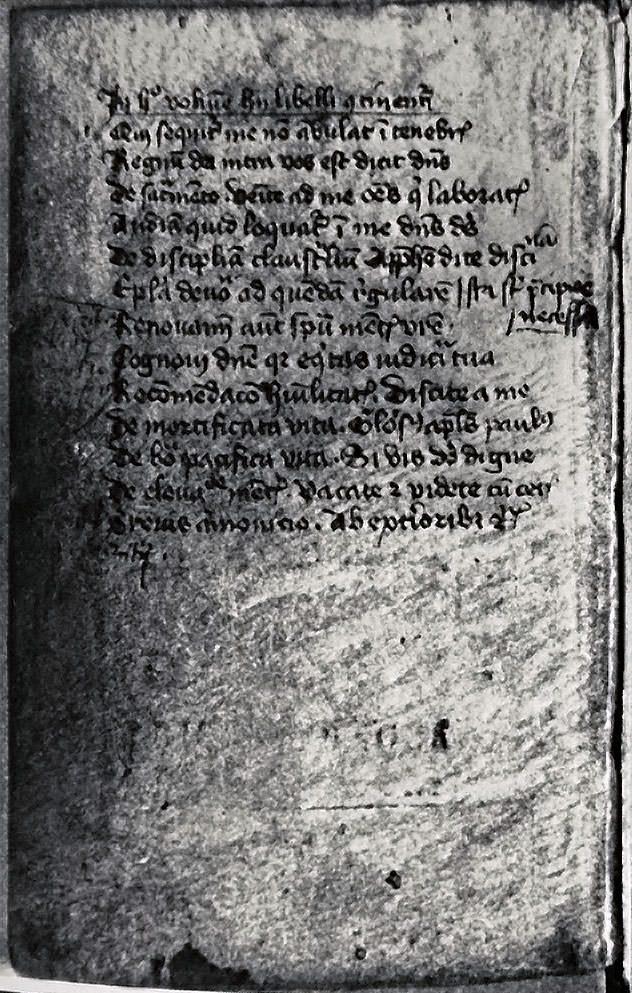 Manuscrit de l'Imitation de Jésus-Christ - 1
