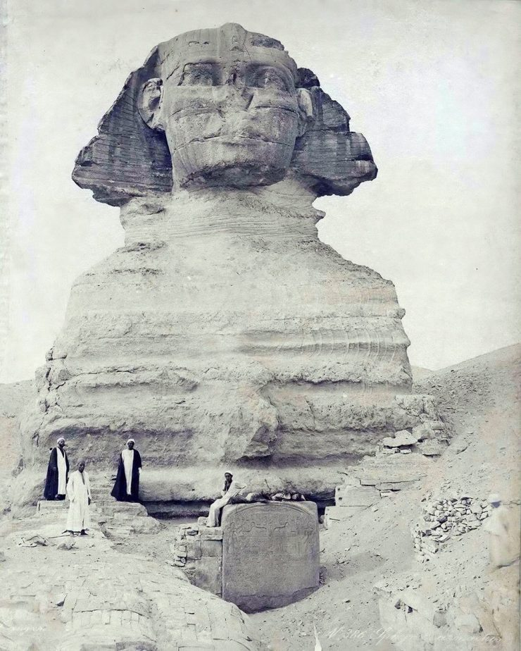 Ancienne photo du Sphinx 1