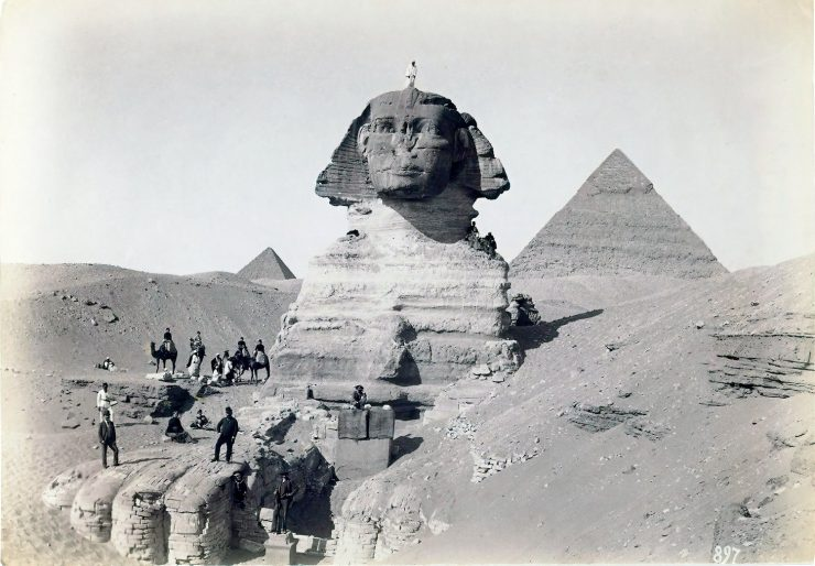 Ancienne photo du Sphinx 2